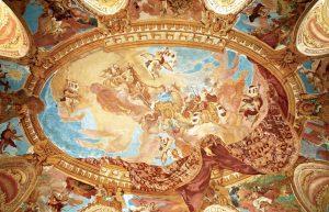 Freska na klenbe salu predku -apoteoza Althannu1