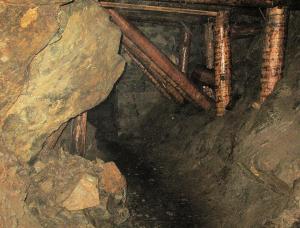 Interiér štoly sv. Antonína Paduánského