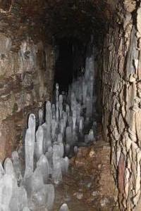 Ledová výzdoba ve štole Kryštof