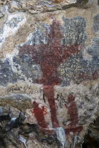 """Renesanční malba """"Adorace kříže"""""""