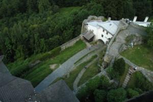 Pohled na hradní nádvoří