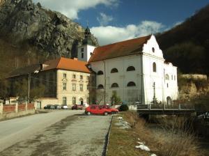 V podzemí kláštera a kostela se v zimě ukrývají netopýři.