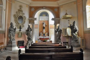 Interiér kaple sv. Jana Nepomuckého.
