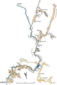 Mapa jeskynního systému