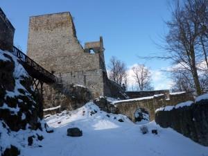 Zřícenina hradu je zimovištěm několika druhů netopýrů.