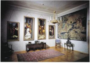 Interiéry zámku - renesanční salón.