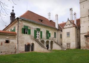 Nejstarší část zámku z 2. poloviny 16. století