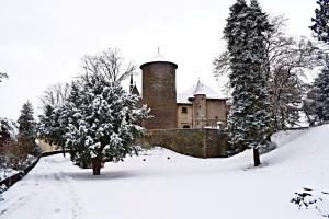 V zimě je hrad útočištěm letounů.